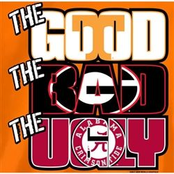 Tennessee Vols Football T-Shirts - The Good The Bad The Ugly - Orange