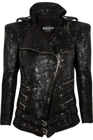 Balmain sequin biker jacket....