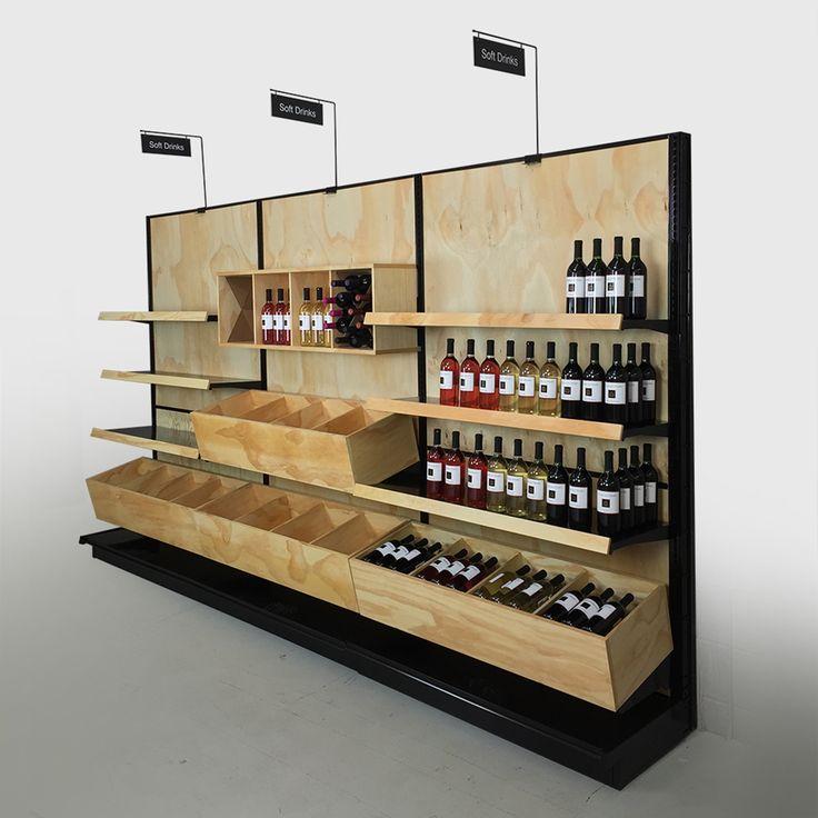 Liquor Store Commercial Wine Racks | Wood Gondola Shelving