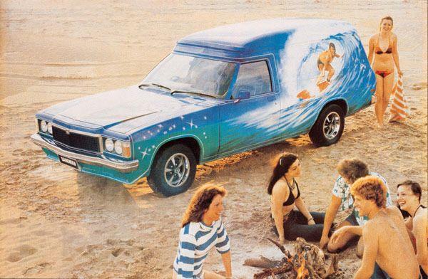 The ghost of Australia past - Holden 'Sandman' on the beach
