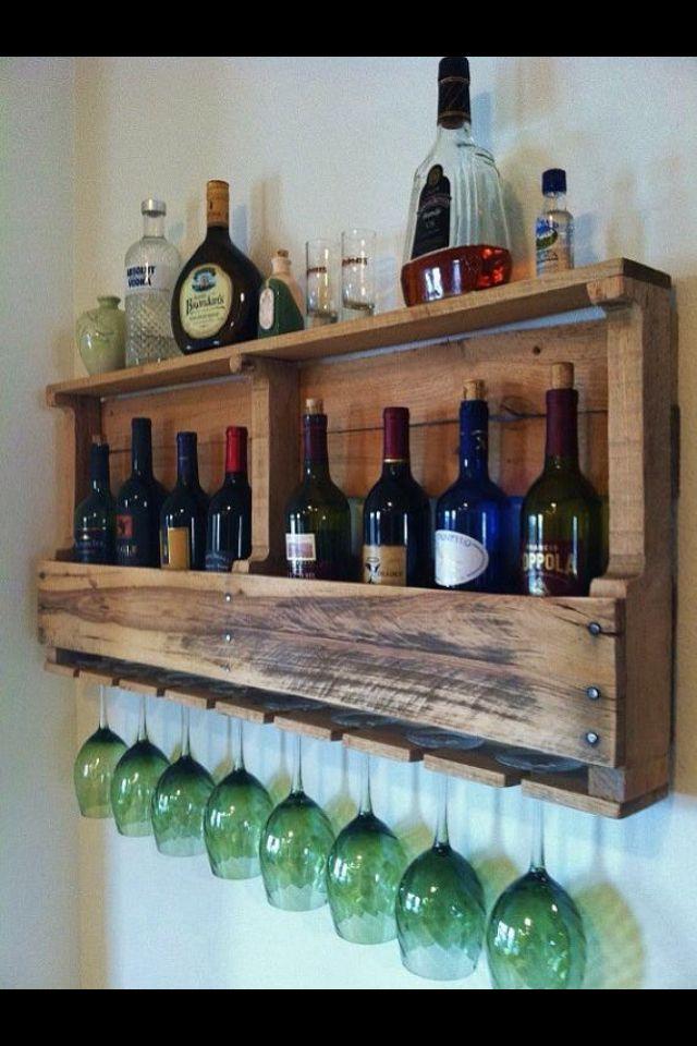pallet wine rack pallet ideas pinterest wine racks. Black Bedroom Furniture Sets. Home Design Ideas