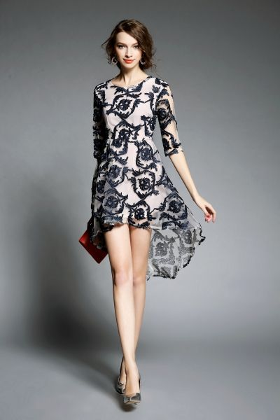 Fashion design pictures dresses with knee