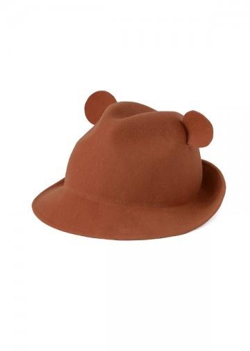 [Ne-net] Teddy Hat with Ears くまチロリアン / 帽子