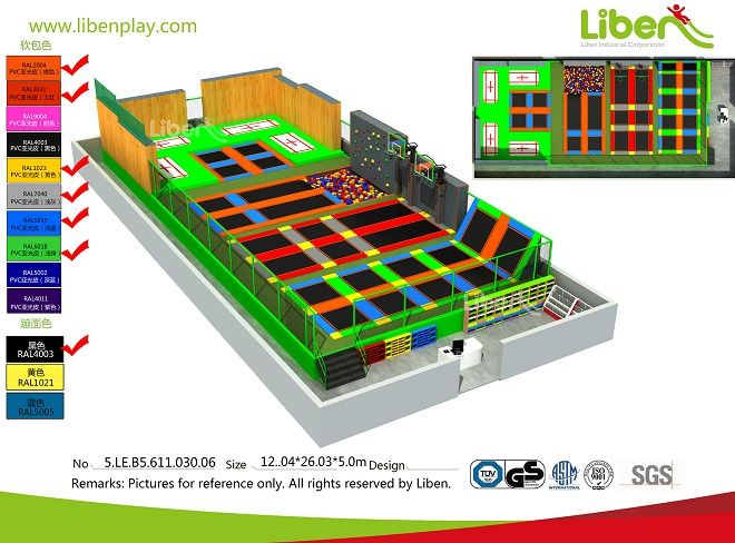 ASTM certified China largest professional trampoline park factory