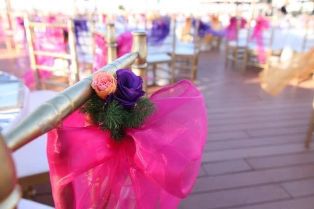 Colorful wedding hall..