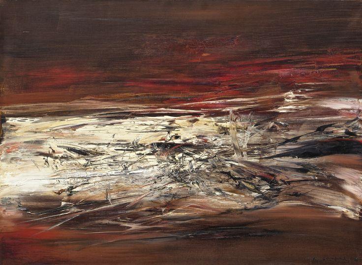 Zao Wou-Ki, Title: 06.01.64; Medium: oil on canvas; Size: 72.8 x 99.8 cm (28 5/8 x 39 1/4 in.)