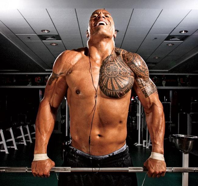 Train Like The Rock: Dwayne Johnson's Shoulder Routine (WWE) | Muscle & Fitness