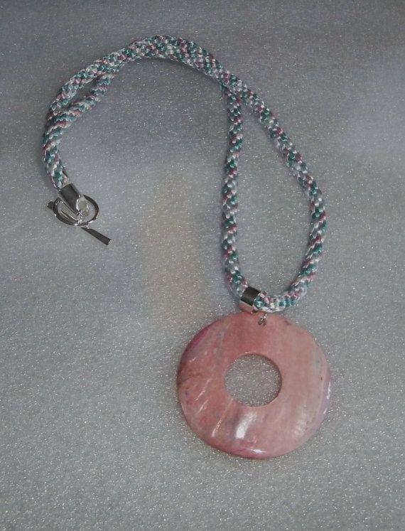 Pink Shell Pendant by WearMyJewellery on Etsy, £8.00