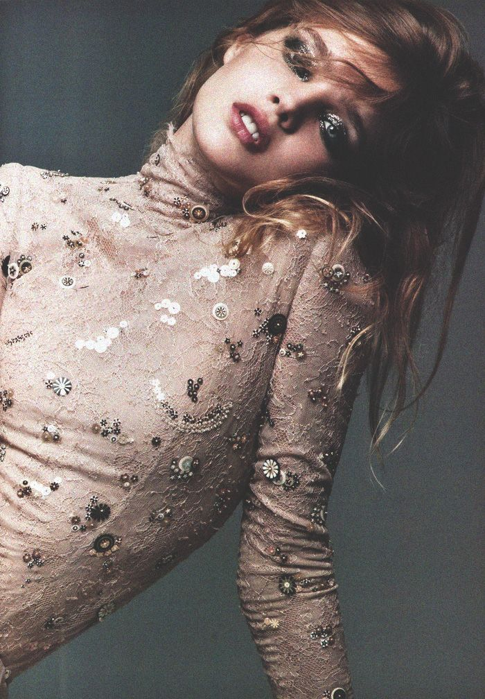 natalia vodianova in chanel haute couture for V magazine