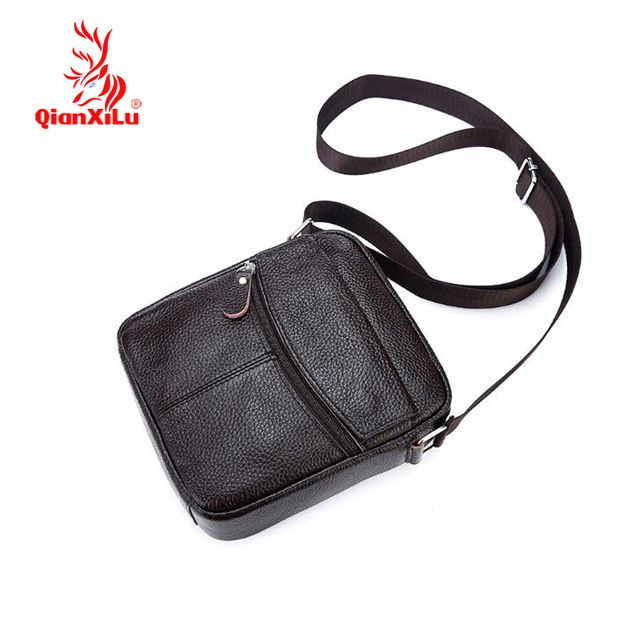 Check it on our site Qianxilu High quality Brand Genuine Leather bag Vintage Designer Men Crossbody bags Cowhide leather small messenger bag for man just only $17.55 with free shipping worldwide  #crossbodybagsformen Plese click on picture to see our special price for you