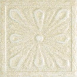 Looking for something like this:   U.S. Ceramic Tile Hampton 4 In. X 4 In. Sand Porcelain Decorative Insert A Floor And Wall Tile Uwhm100-I4a