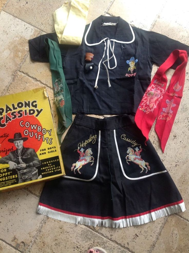 1950 S Hopalong Cassidy Cowgirl Outfit Vintage Cowboy