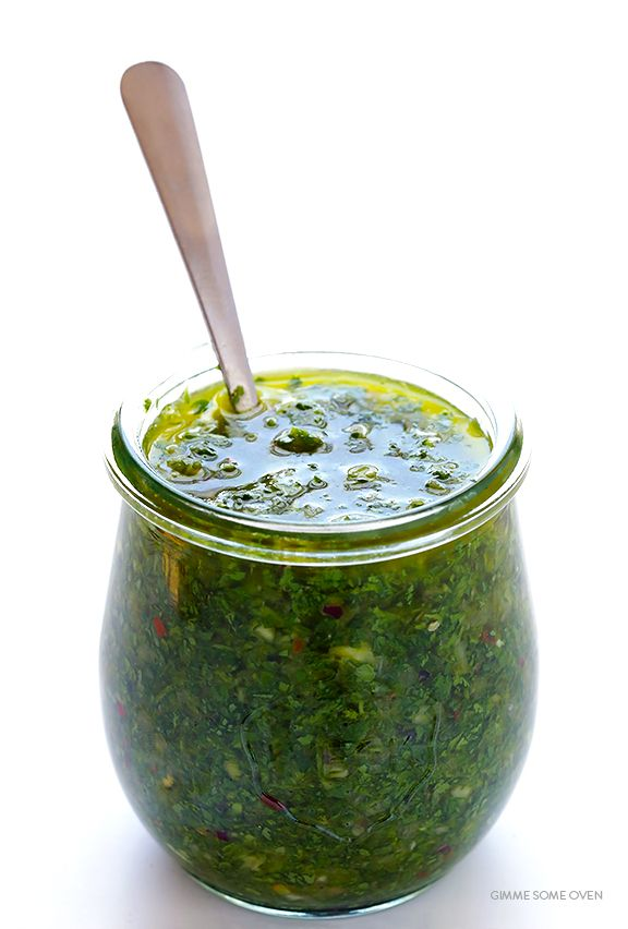 You will love this fresh, green and totally delicious Chimichurri Sauce recipe. It's flavorful, healthy, and can be prepared in less than 5 minutes!