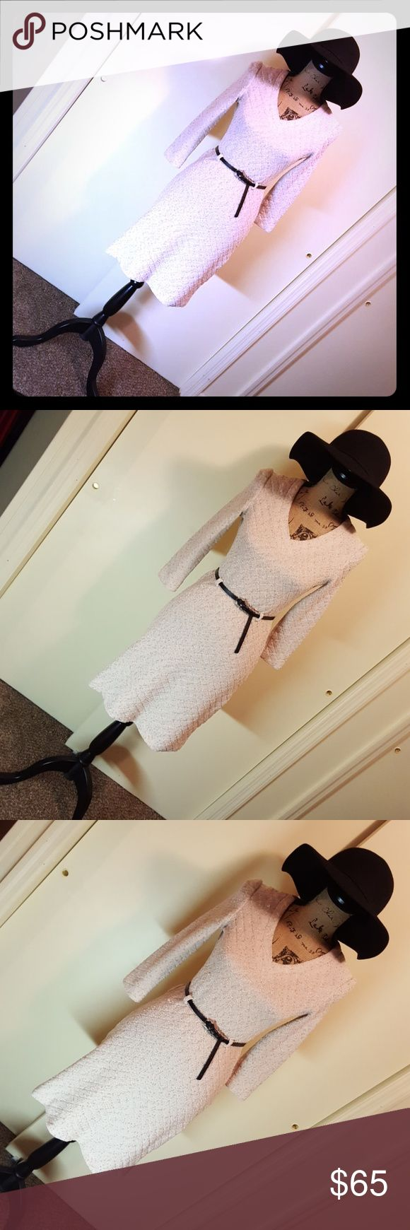 🍂Vintage Leslie Fay Dress 🍂 🍂Vintage Leslie Fay LF Petite Dress🍂 🍂Vintage Puker Sweater Dress🍂 🍂Cream/Beige Colored Dress🍂 🍂Stretch To The Knit/Sweater🍂 🍂No Size Tag🍂 🍂Fit X-Small and Small 🍂 🍂Excellent Condition🍂  🚫ACCESSORIES NOT INCLUDED🚫 Vintage Dresses