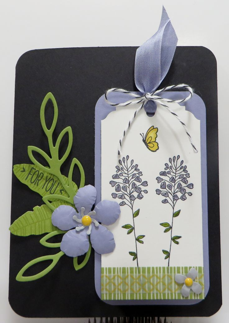 Stampin' Up Flowering Fields Botanicals Tag Card created ...