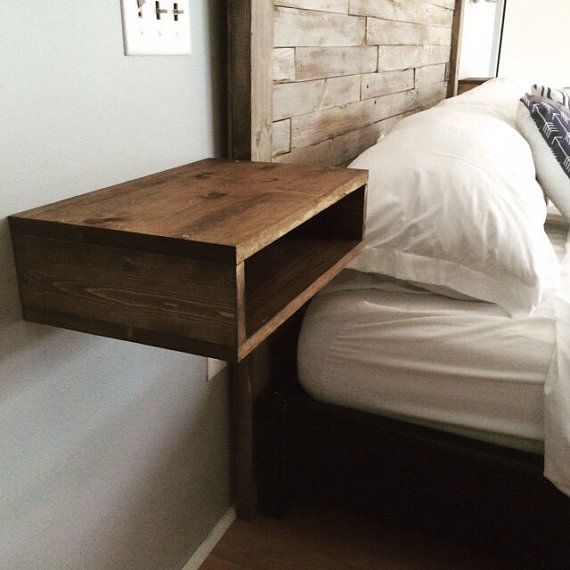 Floating Bedside Tables pair of two by 32Belowwoodworks on Etsy
