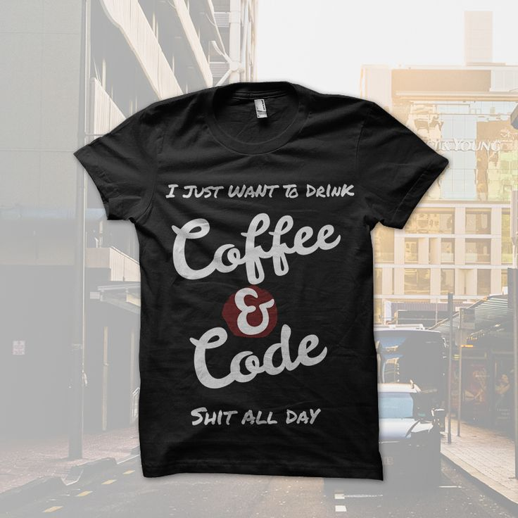 Coffee and Code T-shirt  Inspired by Britomart, Auckland, New Zealand.