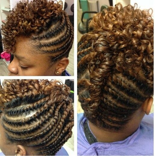 two strand hairstyles | Double strand twists and rod set curls Prep: be curly Style: men's ...