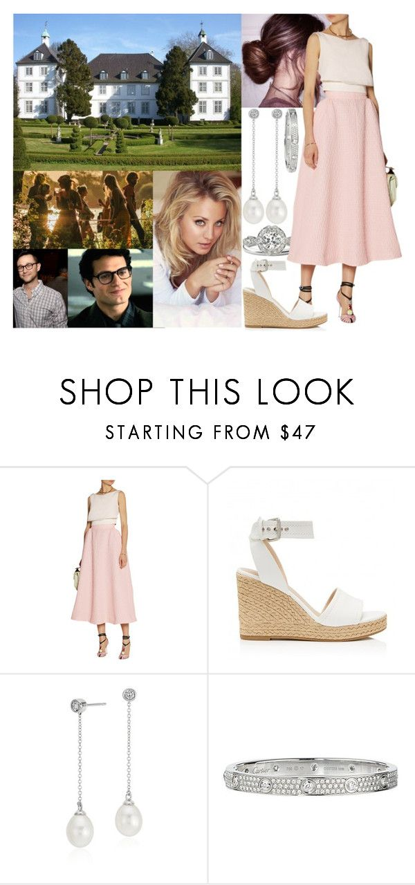 """""""Celebrating her 28th birthday with her family at Gut Panker and being introduced to her brother's new girlfriend Rosemarie Lindskog"""" by astridavhessenstein ❤ liked on Polyvore featuring Emilia Wickstead, Forever New, Blue Nile and Cartier"""