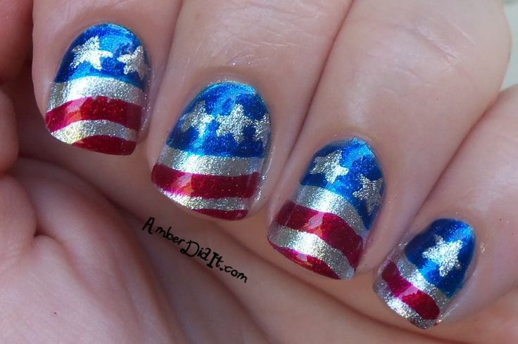 Amber did it!: Fourth of July Nails