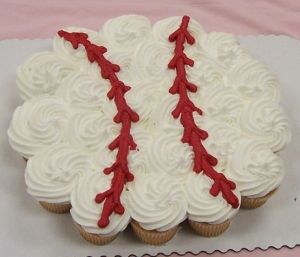 Baseball cupcakes by concetta