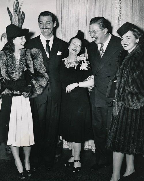 Vivien Leigh,Clark Gable,Margaret Mitchell,David O'Selznick and Olivia de Havilland