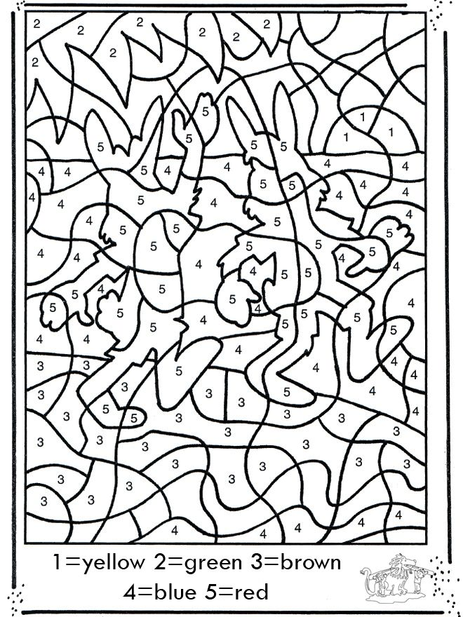 Image detail for -FunnyColoring.com / Crafts / Coloring by number / Number drawing