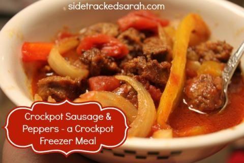 Crockpot Sausage & Peppers