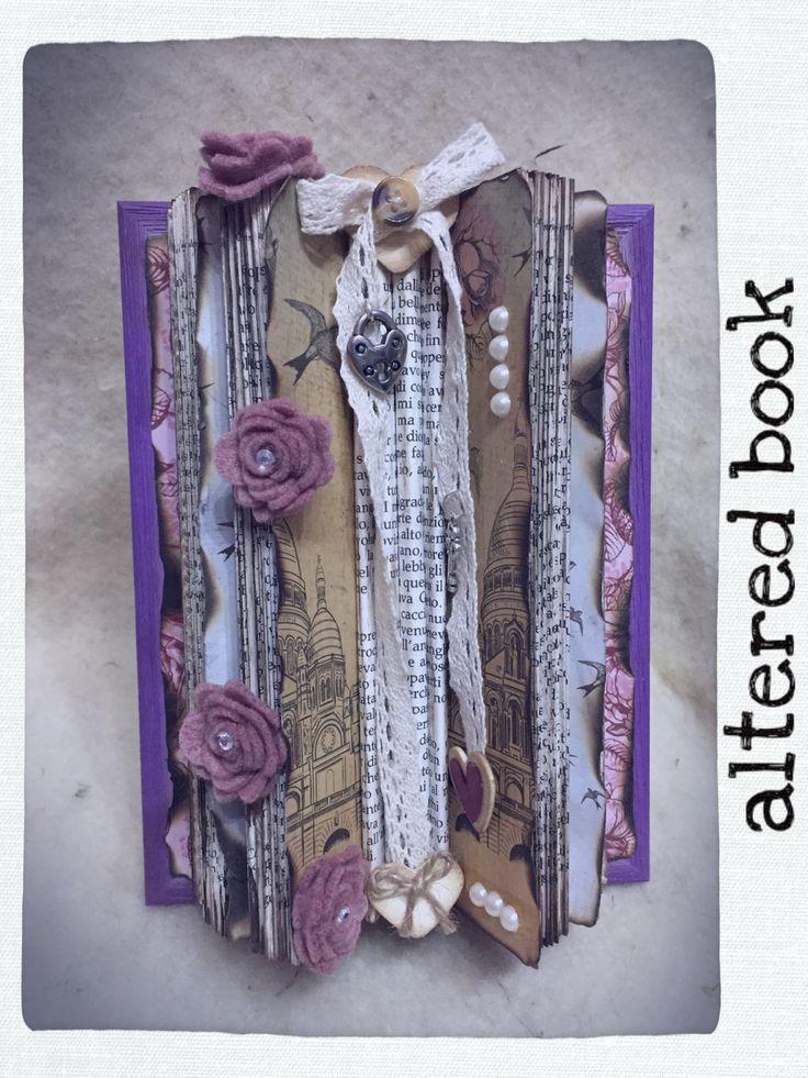 altered book/ folding book art/