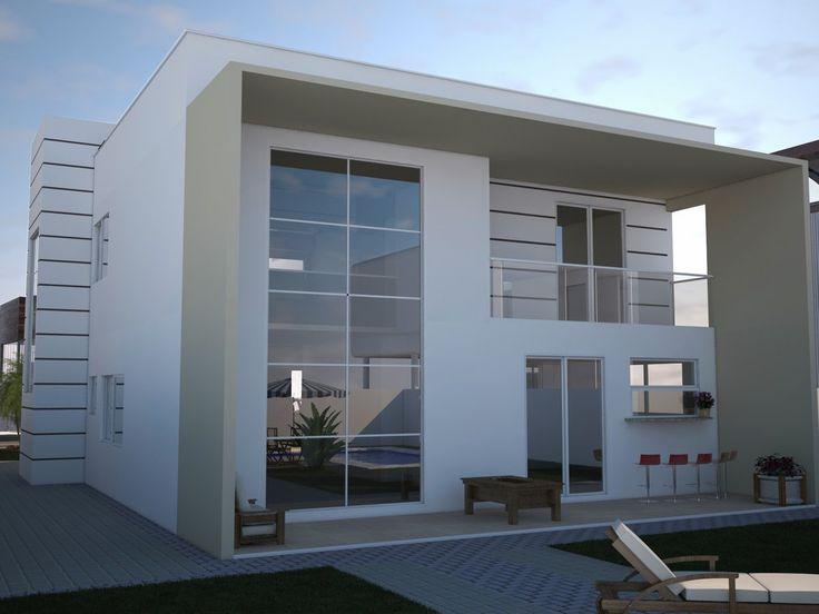 79 best houses images on pinterest home plans house for Casa moderna de 7 00m x 15 00m