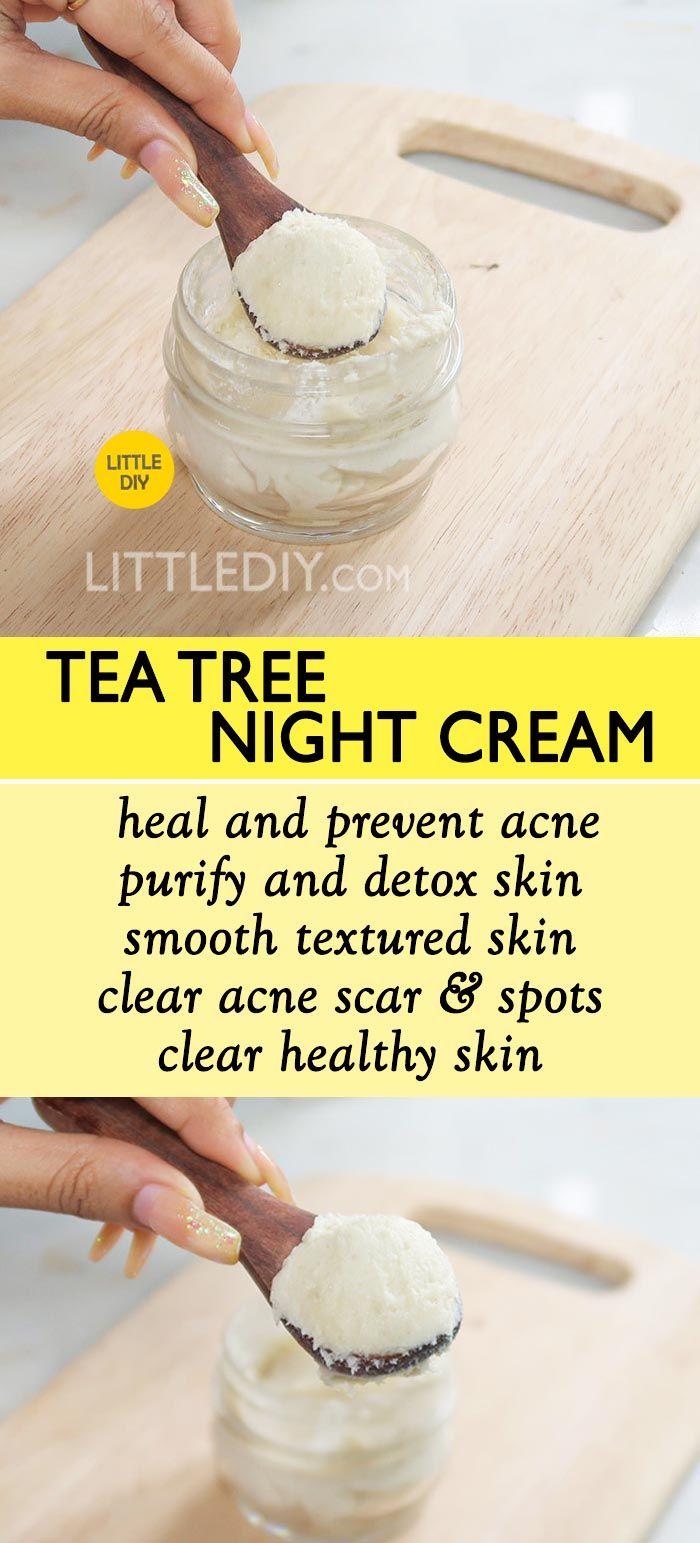 TEA TREE NIGHT CREAM to clear acne & scars