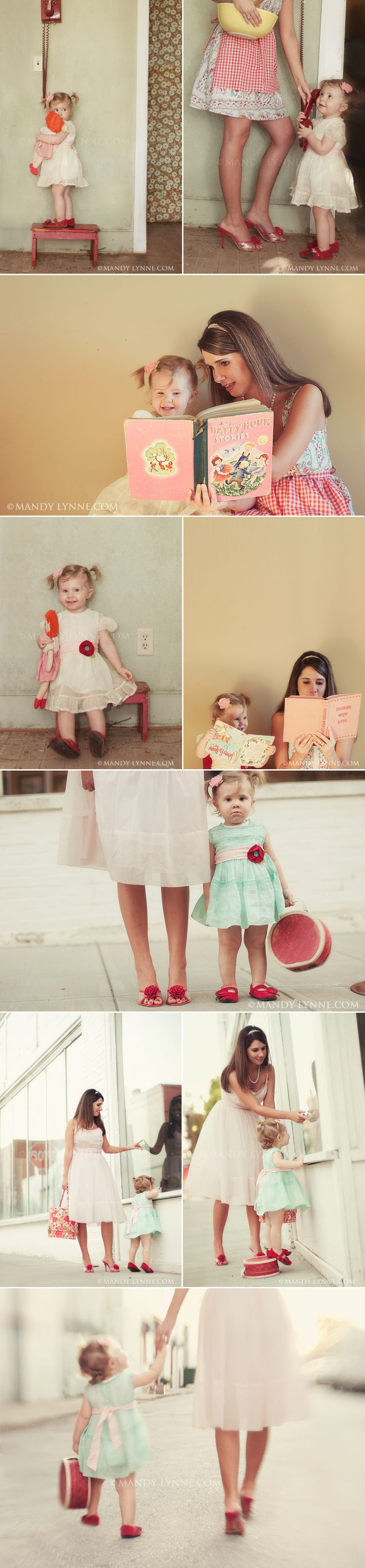 love the different levels, where you can see the womens legs and the completly see the little girl. cute ! mom & daughter
