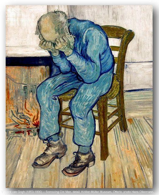 Vincent van Gogh (1853-1890) – Sorrowing Old Man, detail. Kröller-Müller Museum, Otterlo. | Flickr - Photo Sharing!