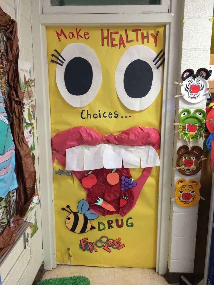 My Red ribbon week door! Make healthy choices be drug free!