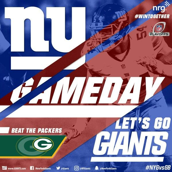 The Giants need to beat the Packers today. Go Big Blue! #NYGvsGB #GiantsPride #WinTogether