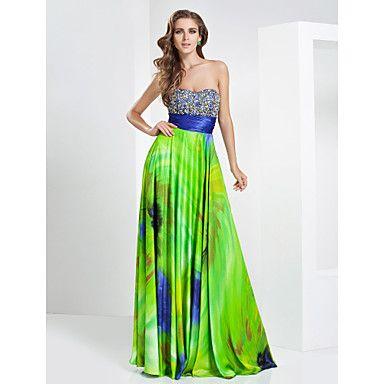 A-ligne sweetheart étage longueur robe de soirée en mousseline de soie – RUB p. 8 503,46