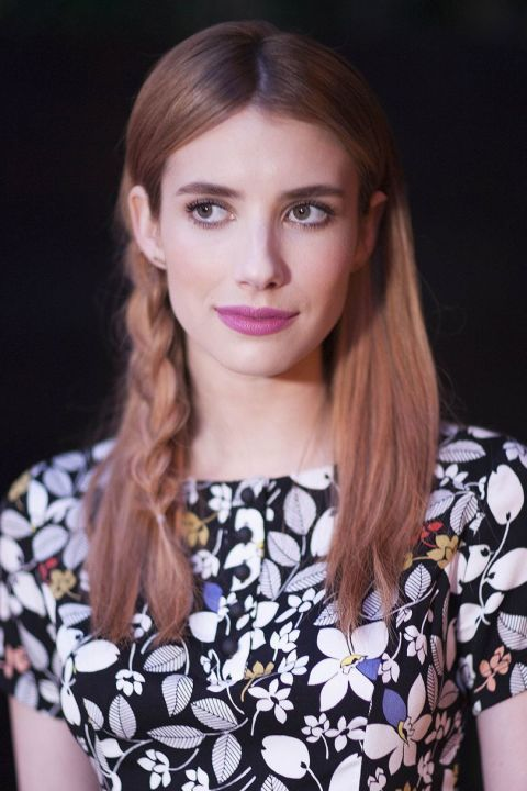 Effortless, pretty, delicate, it's safe to say we're a bit obsessed with Emma Roberts loose side plait.