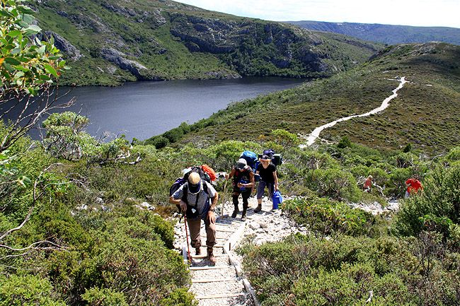 overland track tasmania This is one of the a best known and popular walking tracks.  65 people are allowed per day so as not to be over crowded