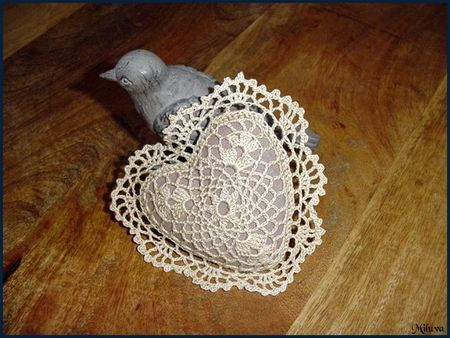 magnifique coeur .... Fantastic heart with free schema pattern!