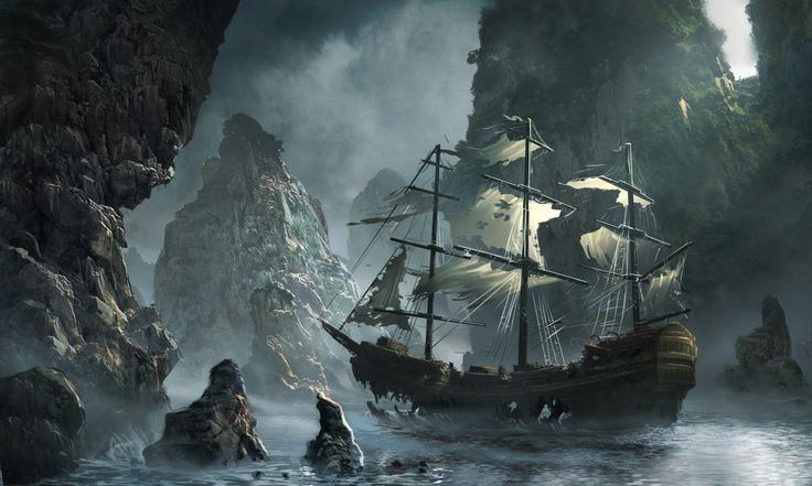 1600x960_14137_Ghost_ship_approaching_2d_fantasy_illustration_pirate_ship_landscape_picture_image_digital_art.jpg (1600×960)