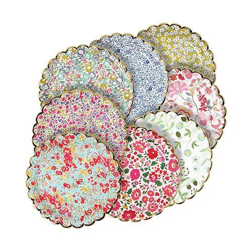 Liberty Floral Paper Plates, small