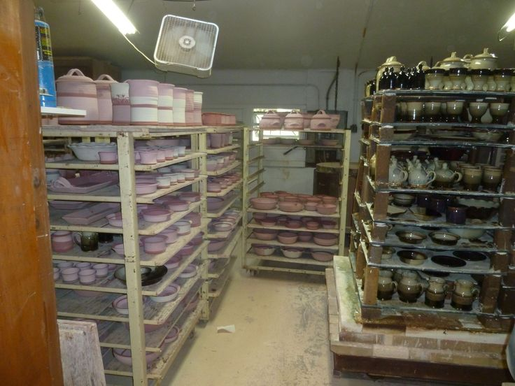 The Kiln Room at the Pottery full of Pots ready for the firing for the Sale. www.donnzver.com