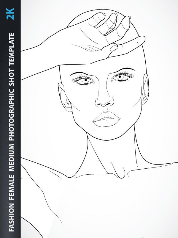 Fashion sketch templates face