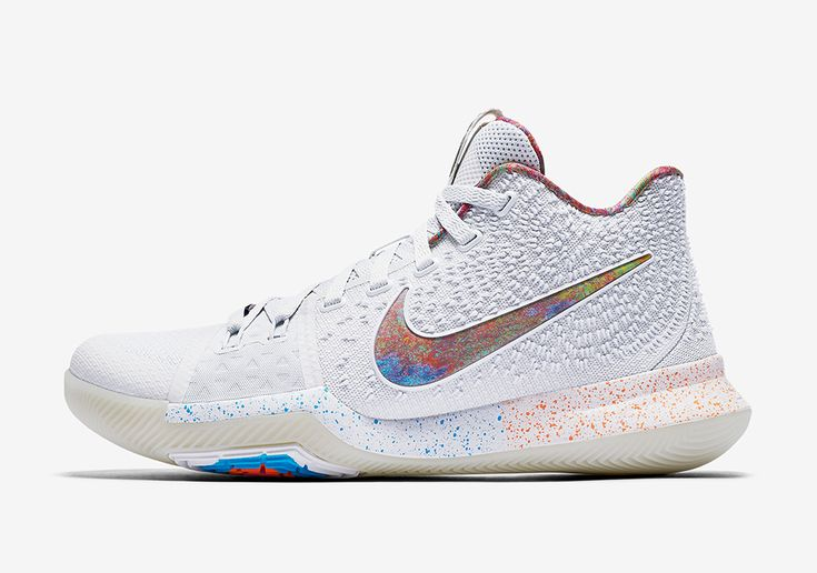 The Nike Kyrie 3 EYBL (Style Code: 942206-001) will release on Nike.com this May 2017 featuring a premium White/Multi-Color upper with intricate details.