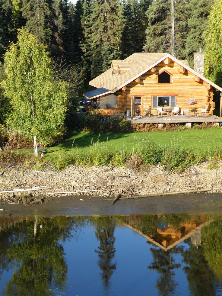 The Beautiful Chena River Alaska, another perfect day on board the sternwheeler Discovery, loved this gorgeous cabin and the reflection in the water