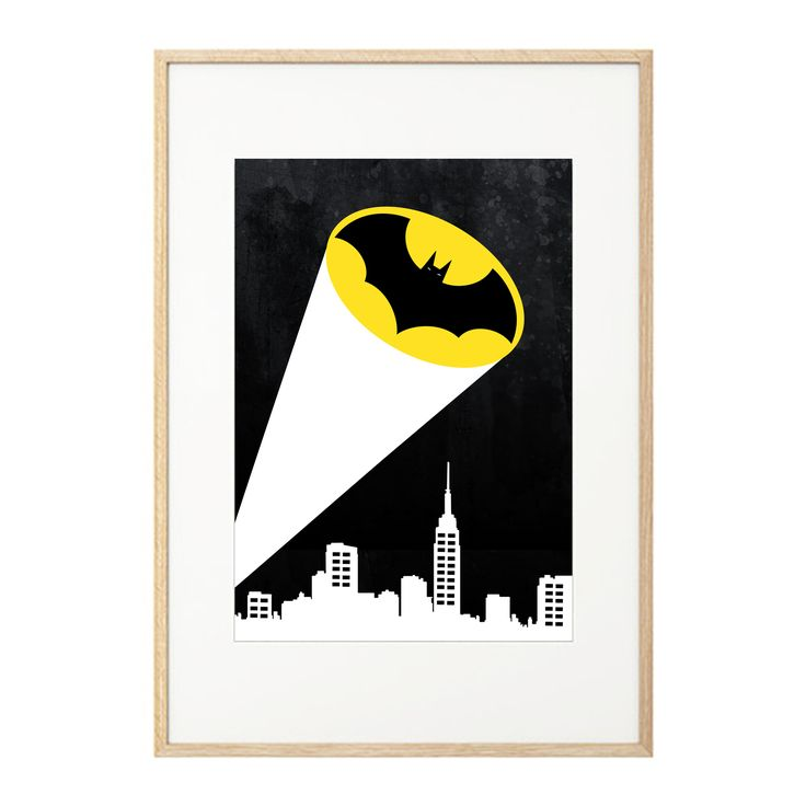 """""""It's not who I am underneath, but what I do that defines me. A hero can be anyone""""  Na na na na na..... BATMAN!  Apologies, we couldn't resist summoning our inner super hero! Stylish, bright and bold Batman Super Hero print by May and Belle - perfect for justice league loving kids bedrooms, playroom or any room in the home! Printed on matt 200gsm archival, Forest Stewardship Council (FSC) paper at a high quality digital printer.  Size 30CM x 40CM"""