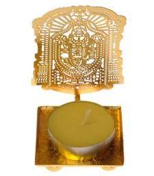Buy Classic Lord Balaji golden Machine Cutting Work Festive Diya with Wax diya online