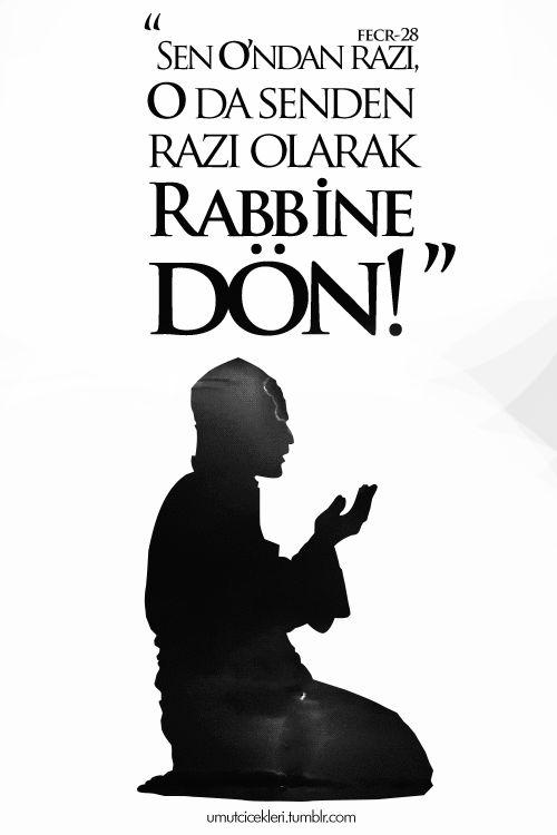 """""""Ey (Allah'ın rızasıyla) huzura eren nefis! (Rabbini) hoşnut etmiş ve (sen de Rabbin tarafından) hoşnut edilmiş olarak Rabbine dön."""" Fecr Sûresi│27-28. #FeyzulFurkan #birayet"""