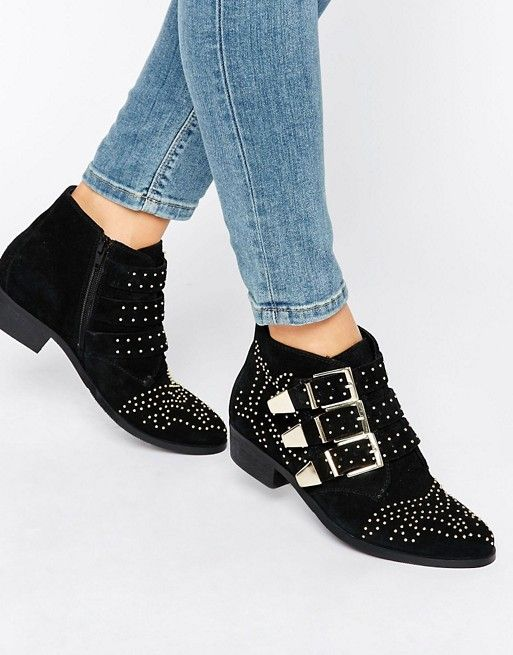 Office   Office Alloy Stud Suede Ankle Boots