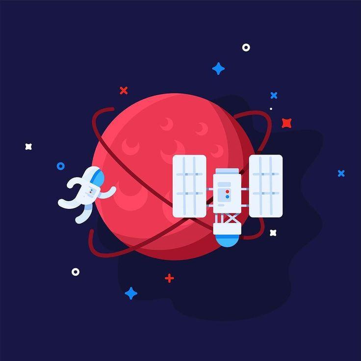 Space !!  #design #illustration #draw #sketch #pen #icons #space #icon #vector #planet #nasa #poster #art #pencil #linework #explorer #simple #astrology #astronaut #photo #graphicdesign #digitalart #creative #planet #vector #flatdesign #work #minimal #comet #asteroid by almigor